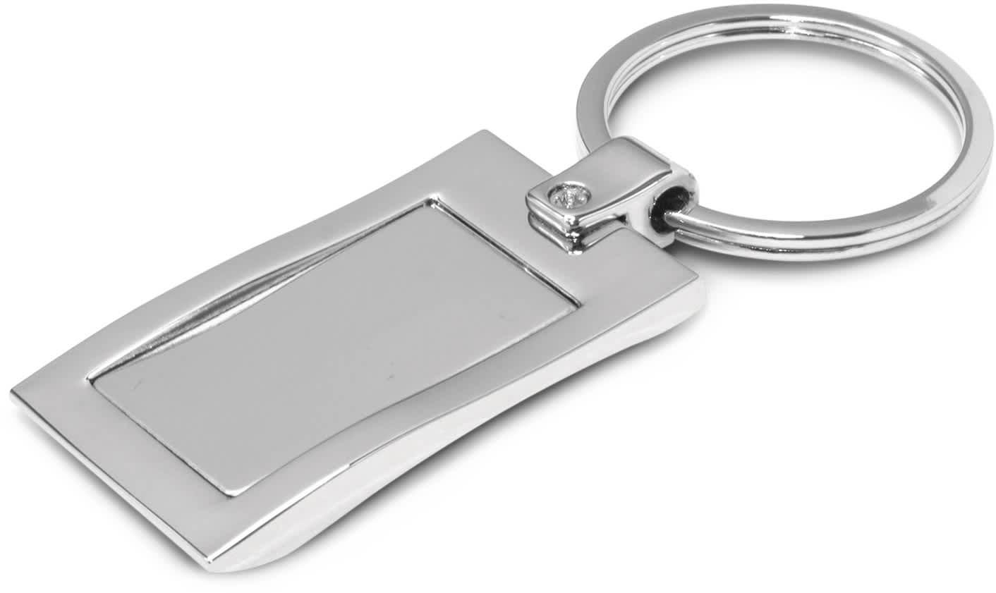 Wave Metal Key Ring