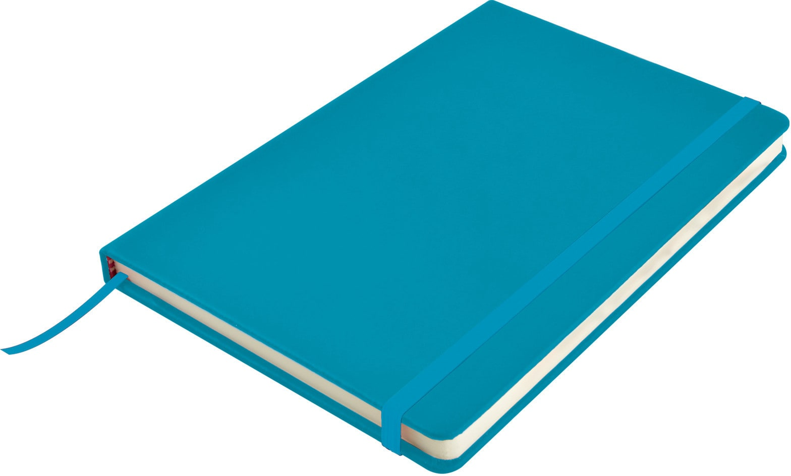 Light Blue Venture A5  PU Notebook with Elastic Closure