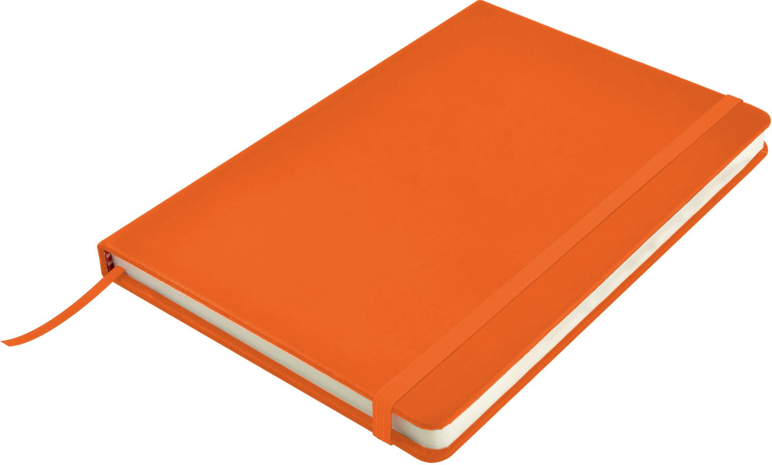 Orange Venture A5  PU Notebook with Elastic Closure