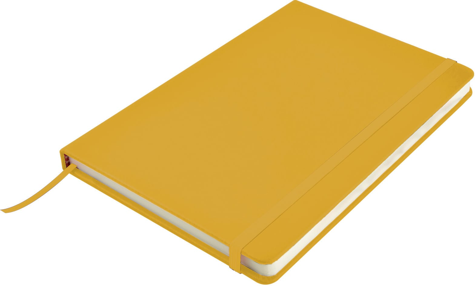 Yellow Venture A5  PU Notebook with Elastic Closure