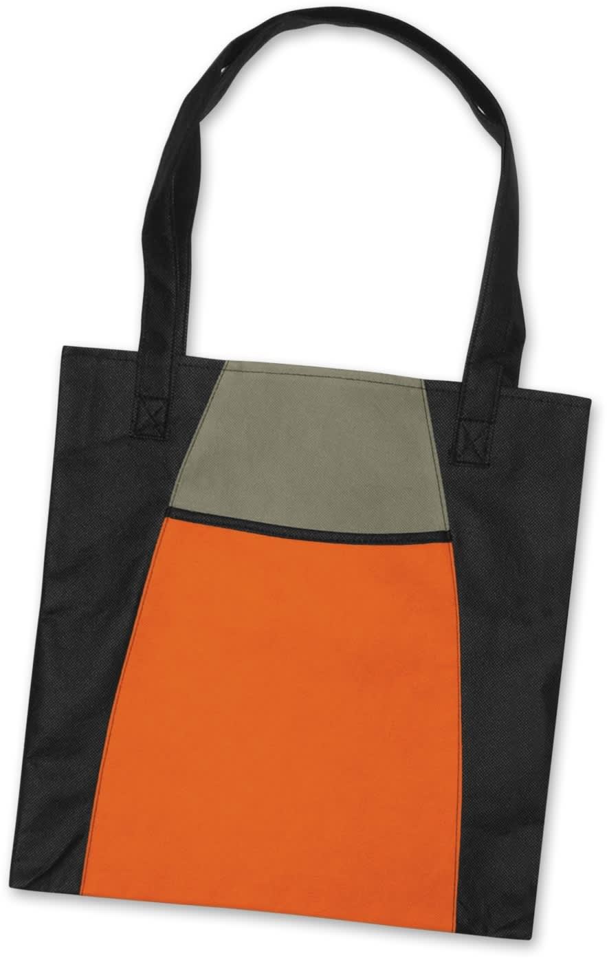 Orange/Black Promo Fashionable Tote Bag