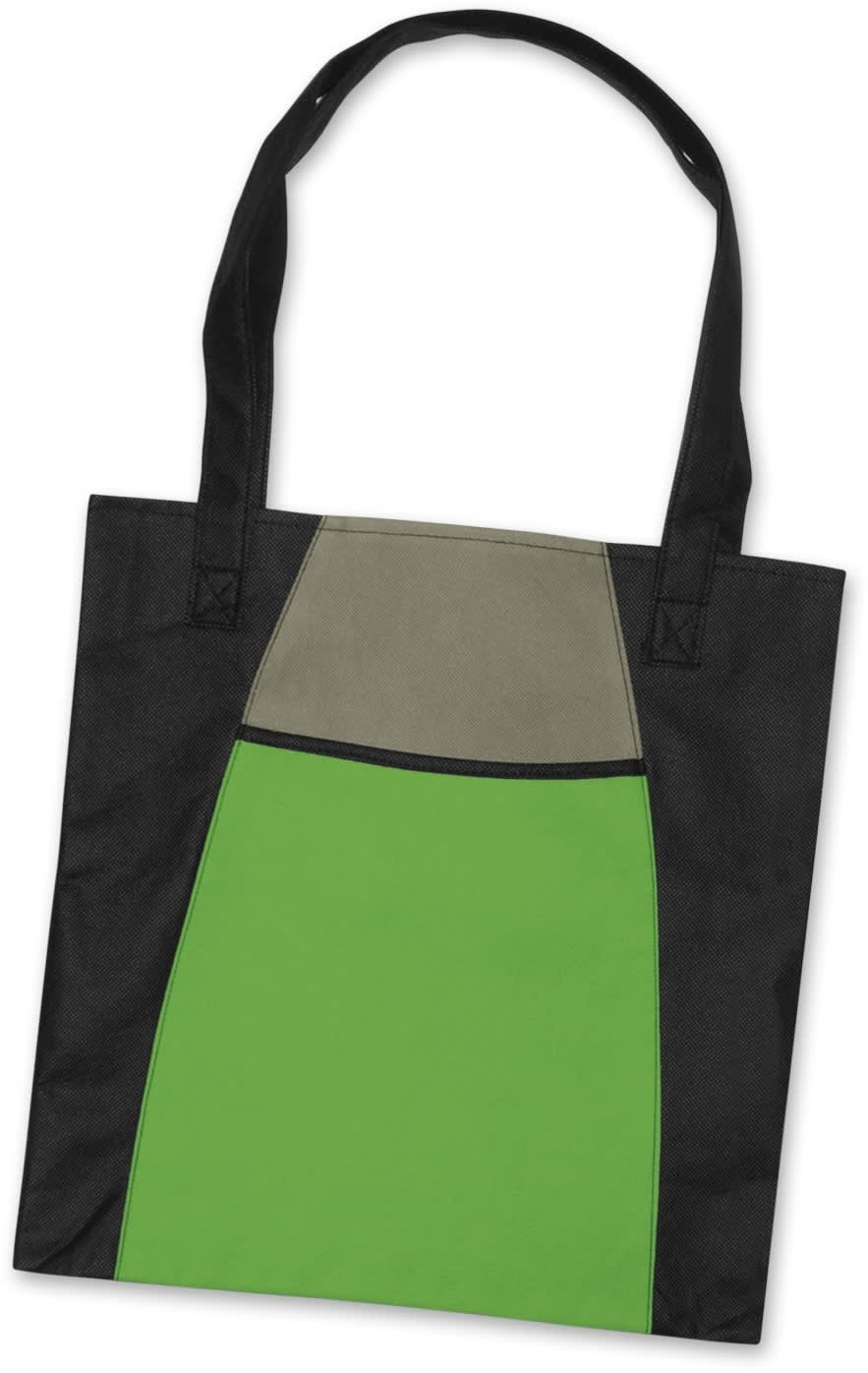 Bright Green/Black Promo Fashionable Tote Bag