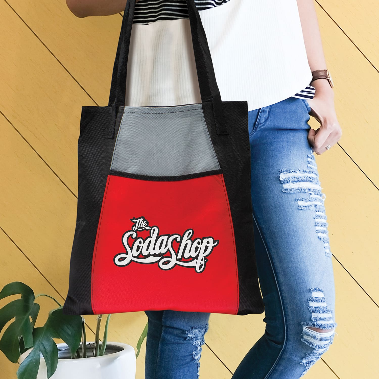 Black Promo Fashionable Tote Bag