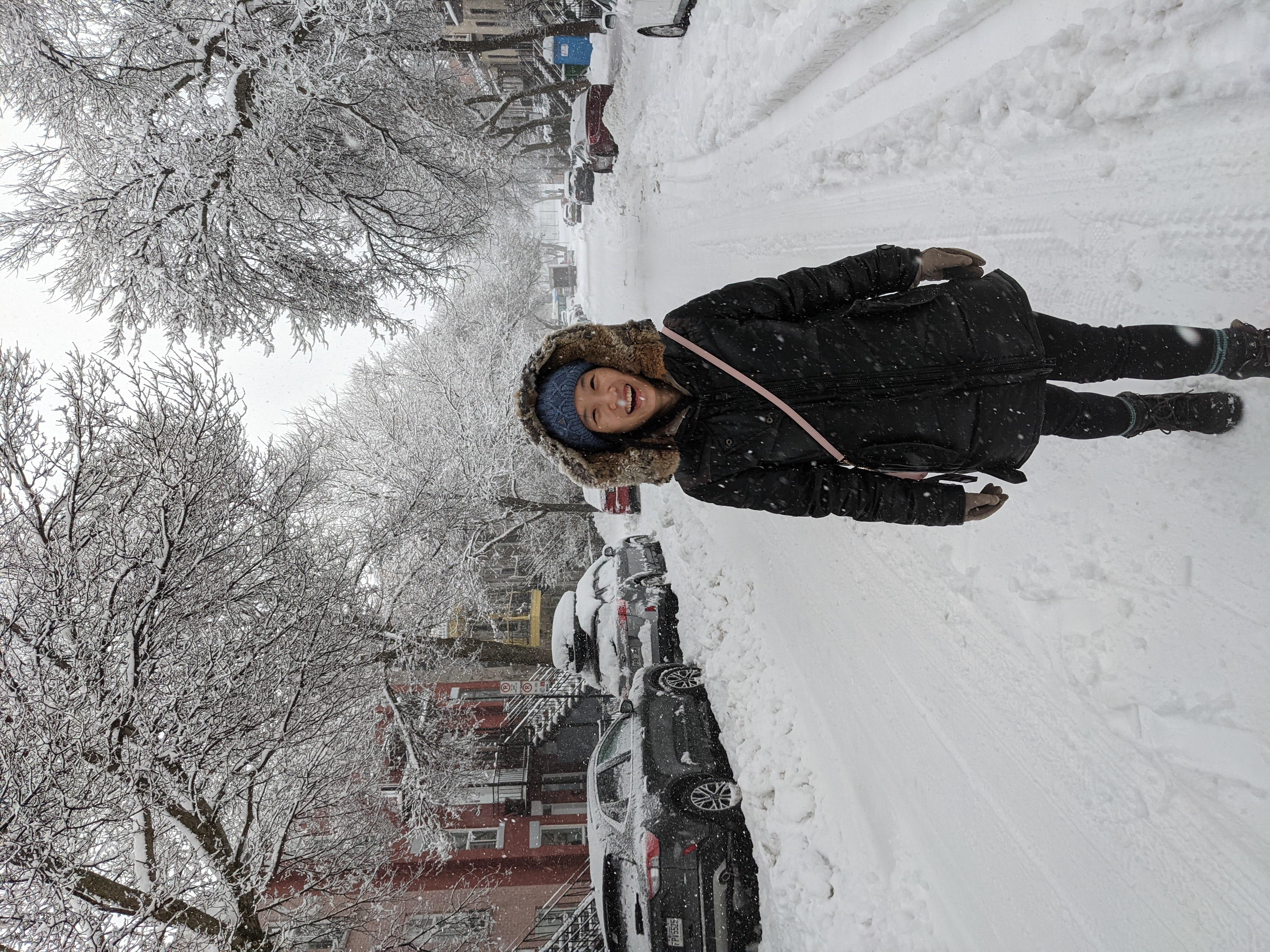 加拿大下雪