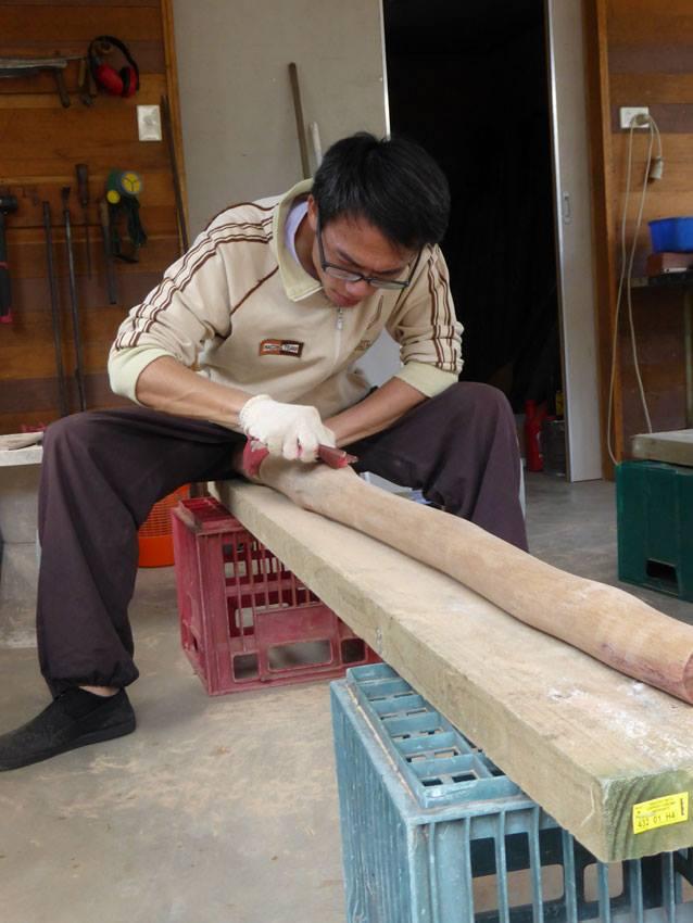 製作Didgeridoo