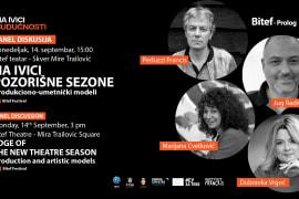 Panel <em>Kazalište u vrijeme pandemije</em> na <em> Bitef</em>  festivalu