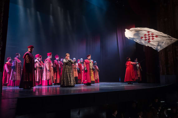Stajaće ovacije nakon izvedbe opere <em>Nikola Šubić Zrinjski</em> 1