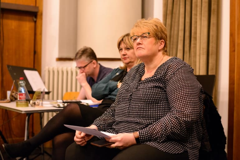 Norveška ministrica kulture na probi <em>Peera Gynta</em>