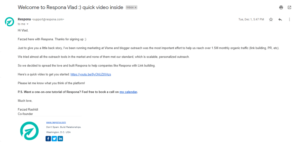 respona feature marketing