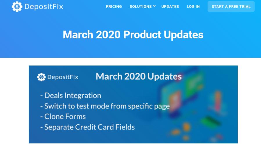 March 2020 updates