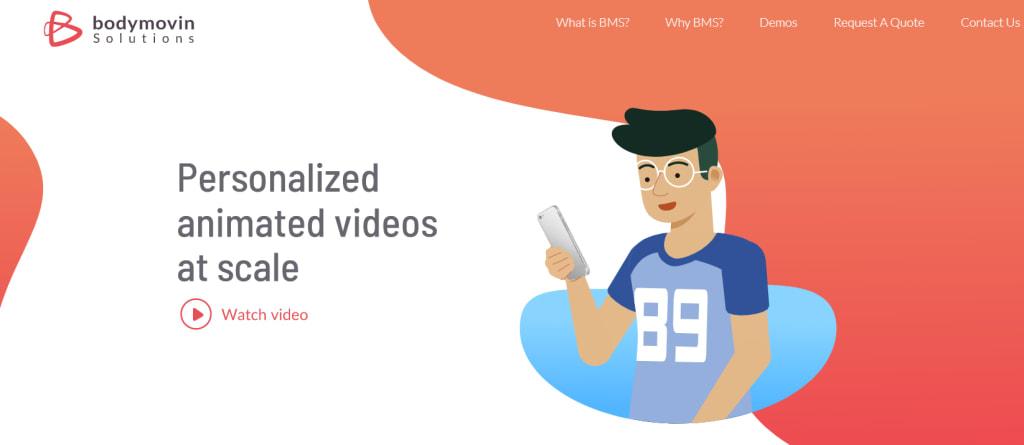 videos on saas homepage