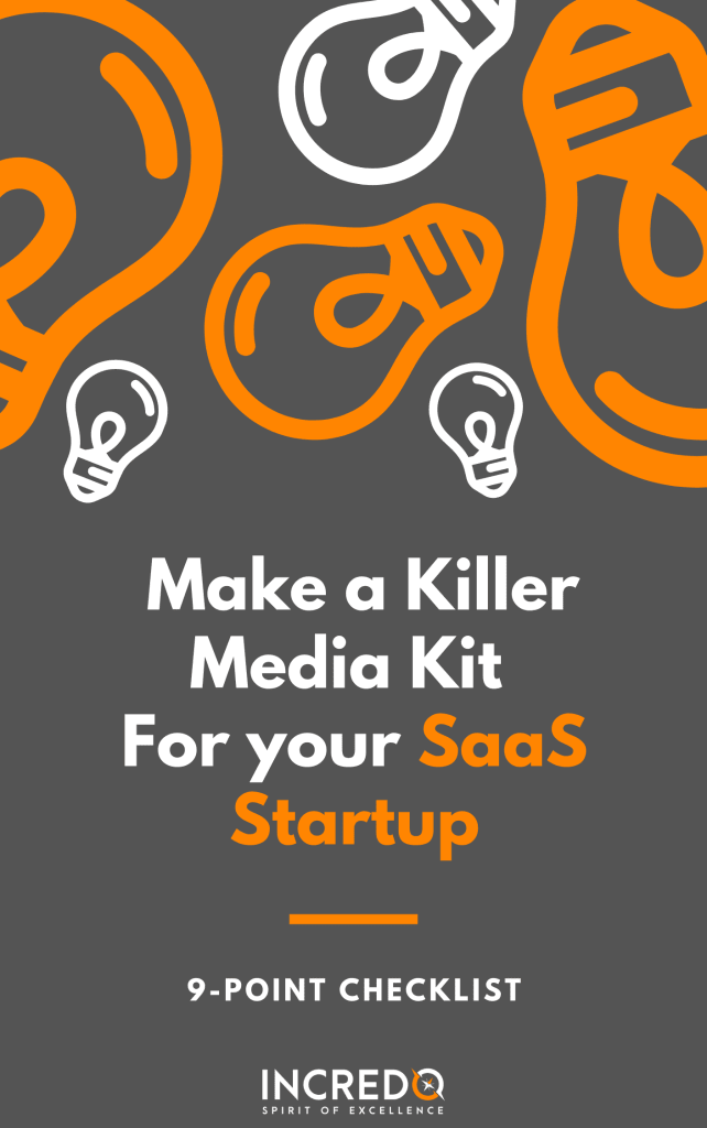 media kit for saas stratup