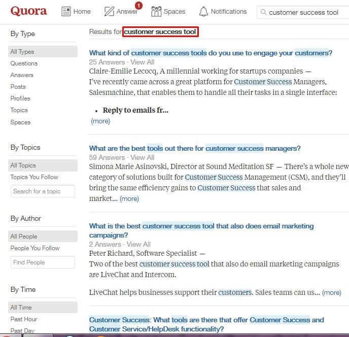 quora customer success tool