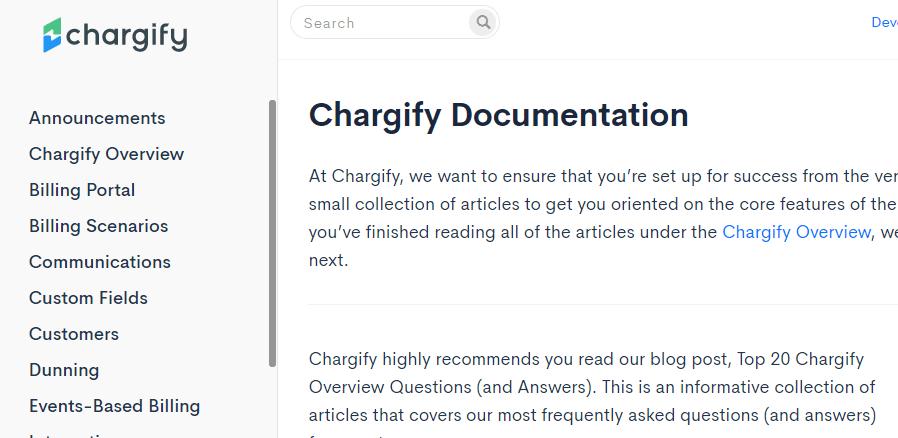 chargify documentation