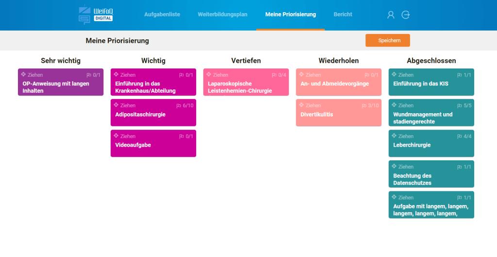 WeiFoQ - Aufgabenliste Reihenfolge