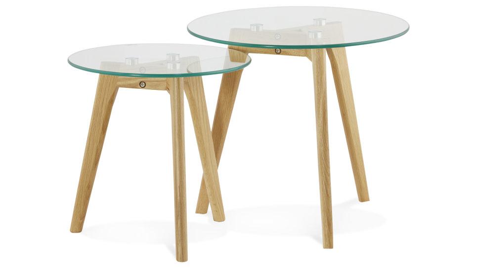 Gigogne Delorm Design Basse Plateau Table Stella Verre jR34qALc5