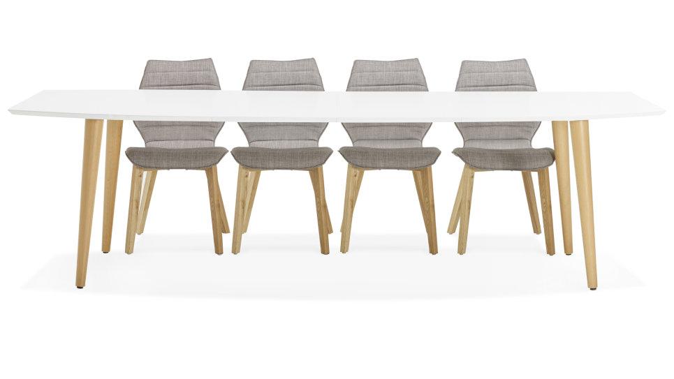 Delorm Pied Design Table Louisa Extensible Blanche Bois NnOZwP80kX