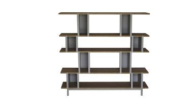 Bibliothèque bois et métal - OOJAMI