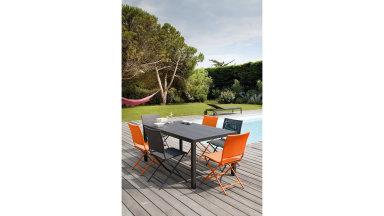 Table aluminium 160 x 90 cm Grise - MT