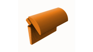 Têtière Orange pour bain de soleil - ZOE