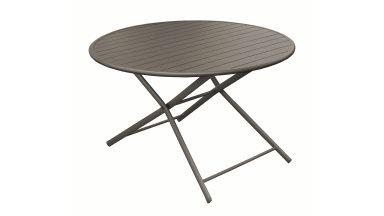 Table ronde pliante D 120 cm Café - GLOBE