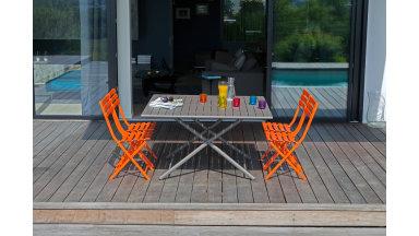 Table pliante 130 x 130 cm Café - GLOBE