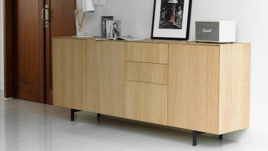 Buffet en chêne massif 3 tiroirs 3 portes - XENOS