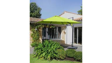 Parasol déporté Vert 300 x 300 cm - ROMI