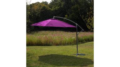 Parasol déporté Framboise 300 cm fibre de verre - ECO
