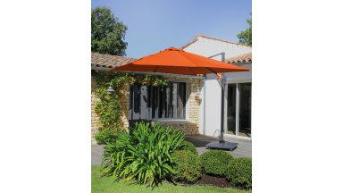 Parasol déporté Orange 300 x 300 cm - ROMI