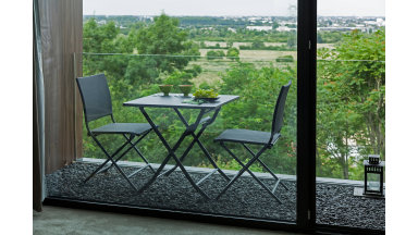 Table pliante 70 x 70 cm Gris - NONZA