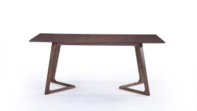 Table moderne 180 cm Noyer - KENAZ