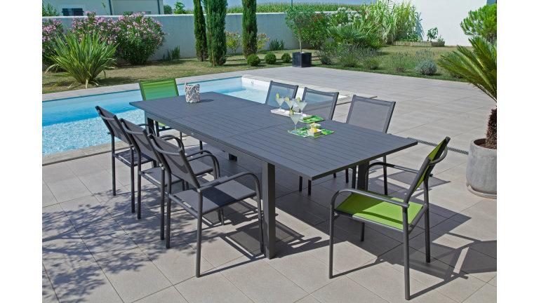 Table Extensible 200/280 x 103 cm Grise - TRIESTE