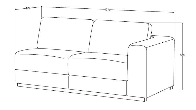 Canapé d'angle moderne en tissu Gris foncé - ROAD