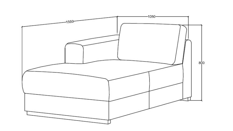 Salon canapé d'angle en tissu Marron - ROAD