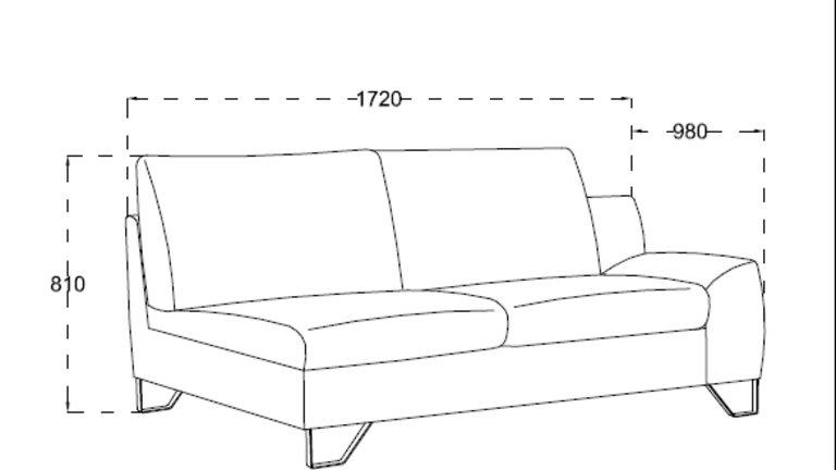 Canapé d'angle marron angle droit ou gauche - KENT MARRON CODE