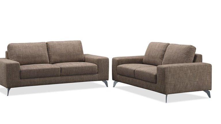 Canapé moderne 2 places en tissu Marron - JAZZ