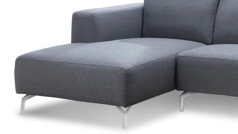Canap d 39 angle fixe en tissu gris clair 2m50 for Meuble tv 2m50