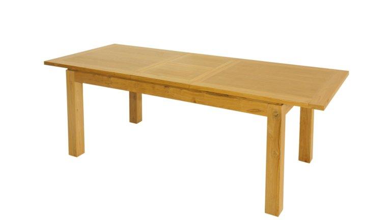 Table manger extensible en teck massif 1m90 2m30 for Table extensible papillon