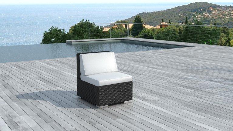 bain de soleil en resine tress e noire 2 personnes darwin. Black Bedroom Furniture Sets. Home Design Ideas