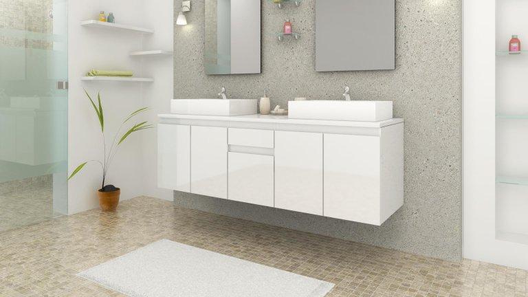 ensemble complet meuble salle bain 2 vasques blanc laqu. Black Bedroom Furniture Sets. Home Design Ideas