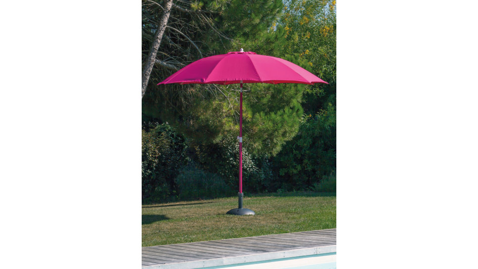 Parasol fibre de verre 270 cm Framboise - LOOK