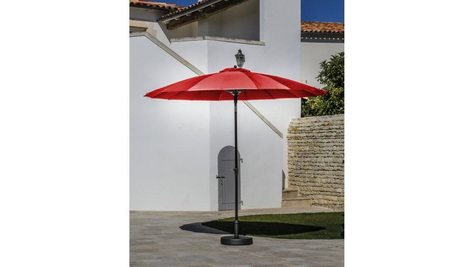 Parasol fibre de verre 300 cm Rouge - PAGODE