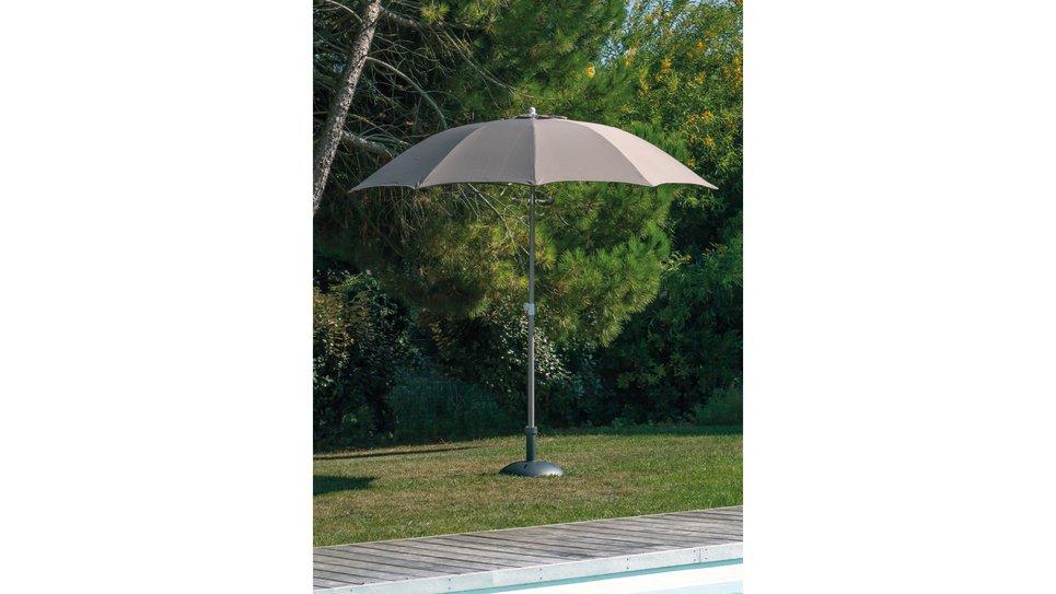Parasol fibre de verre 270 cm Taupe - LOOK