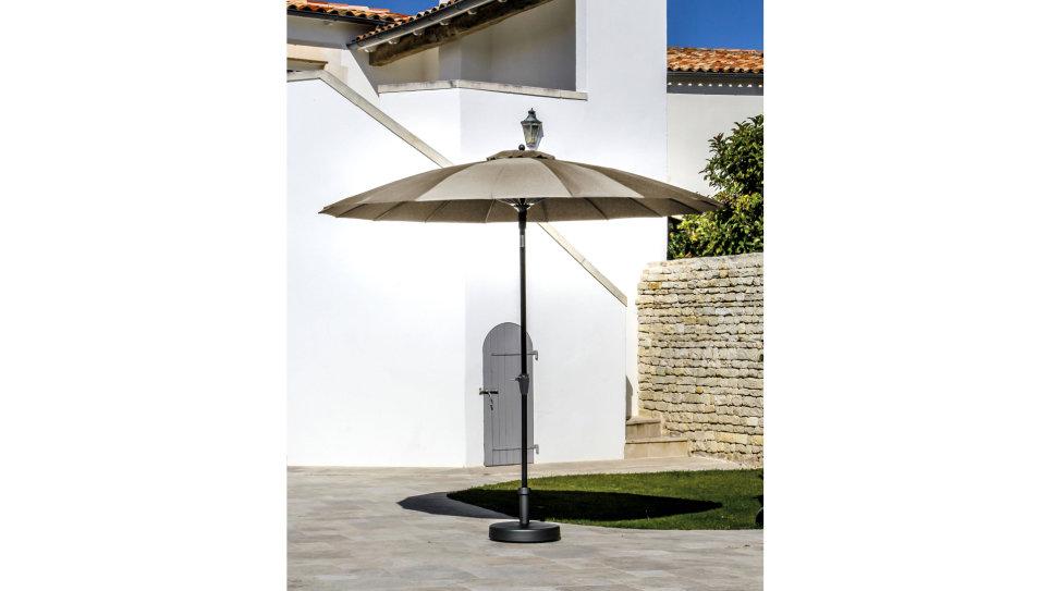 Parasol fibre de verre 300 cm Taupe - PAGODE