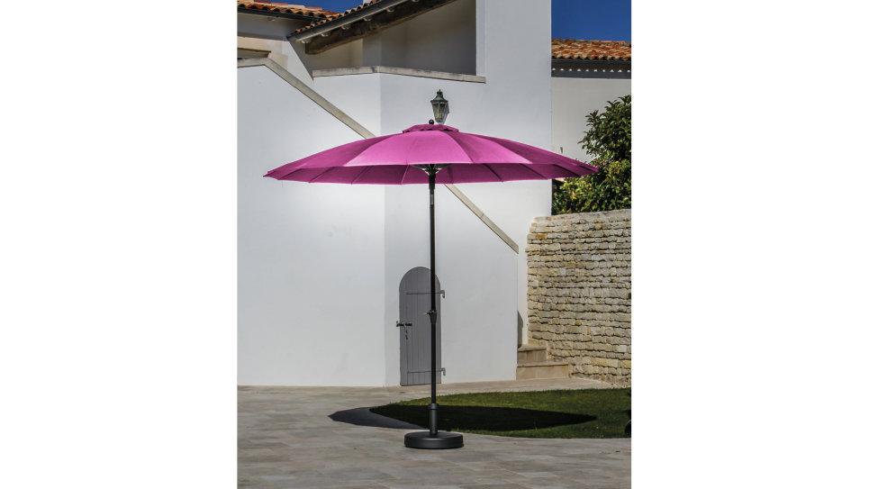 Parasol fibre de verre 300 cm Framboise - PAGODE