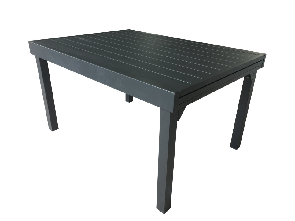 Table extensible 135/270 Gris anthracite - MODULO FULL ALU - Delorm Design