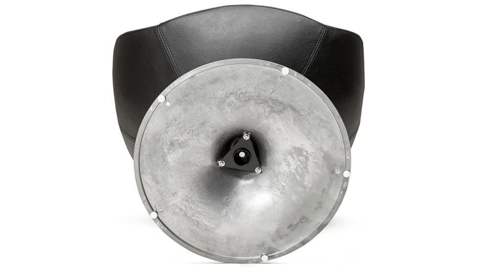 Fauteuil moderne en simili-cuir Noir - LOUNGE