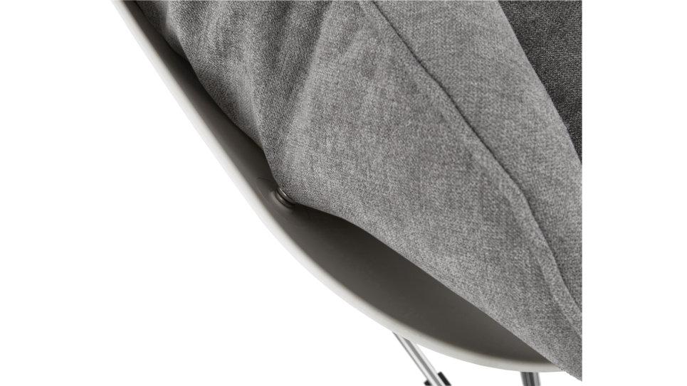 Fauteuil à bascule tissu Gris - DODINE