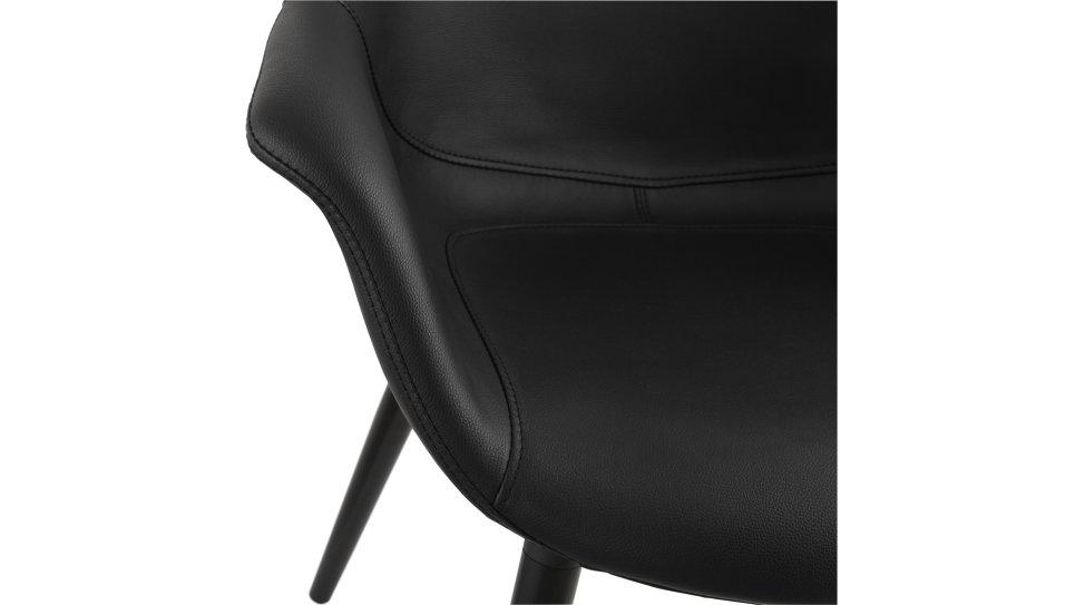 Fauteuil design en simili cuir noir - KING